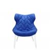 Kartell Foliage Chair White - Blue Cloth