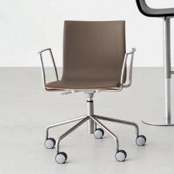 Lapalma Thin Swivel on Wheels Armchair