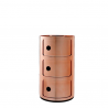 Kartell Componibili Metallic 3 Sections Copper