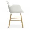 Normann Copenhagen Form Armchair Oak legs White