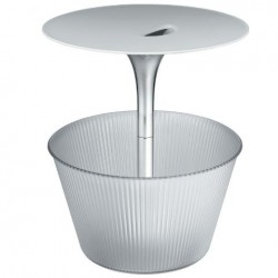 Alessi Pick-Up Side Table and Magazine Stand Clear