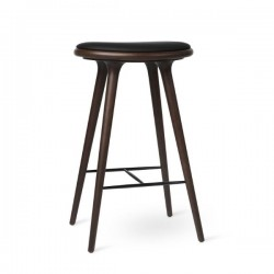 Mater High Stool Dark Stained Beech 74cm