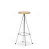 Mobles 114 Nuta Stool Wooden Seat
