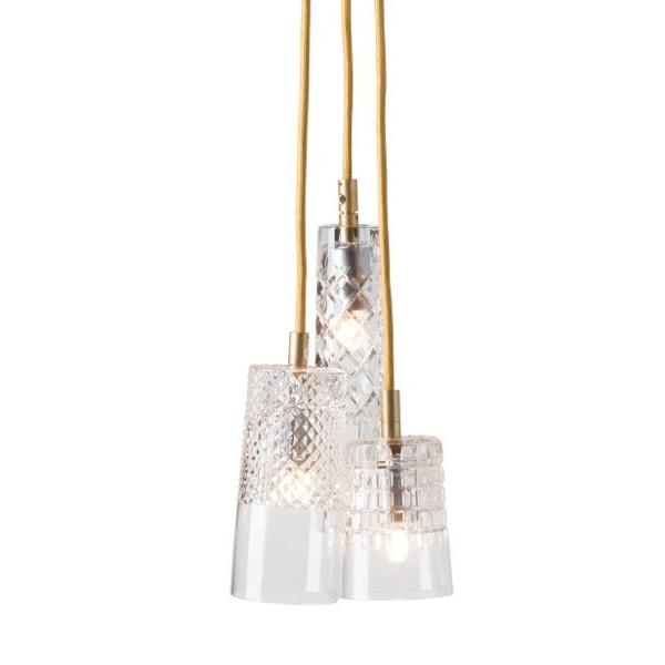 Ebb & Flow Bates Crystal lamp - group of Bates, Edgar, Sybil