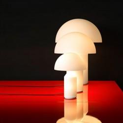 Oluce Atollo Opal Glass Table Lamps
