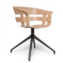 Oak seat, dark grey swivel base