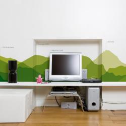 Domestic Worldwide skyline One Strip Wallpaper