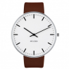Arne Jacobsen City Watch White Dial, Brown Leather