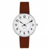 Arne Jacobsen Station Watch White Dial, Brown Strap