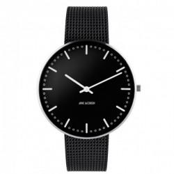 Arne Jacobsen City Hall Watch Black, Black Mesh