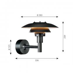 Louis Poulsen PH 3 -2½ Wall Lamp