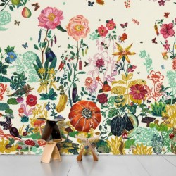 Domestic Wallpaper Jardin Creme
