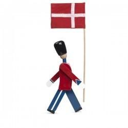 Kay Bojensen Standard Bearer With Textile Flag