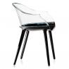 Magis Cyborg Chair Frame glossy black/back transparent clear
