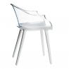 Magis Cyborg Chair Frame glossy white/back transparent clear