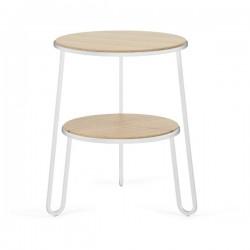 Harto Guerridon Anatole Oak Side Table