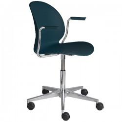 Fritz Hansen N02 Recycle Swivel Arm Chair dark blue