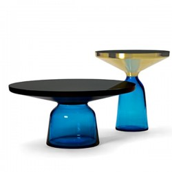 ClassiCon Bell Side Table Brass Sapphire Blue