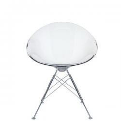 Kartell Eros Chair Transparent Crystal