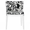 Kartell  Mademoiselle Chair Moschino Black Hearts