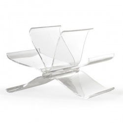 Kartell Magazine Rack Front Page Crystal