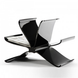 Kartell Magazine Rack Front Page Glossy Black